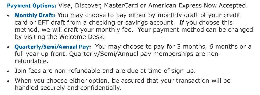 Payment Options Webpage