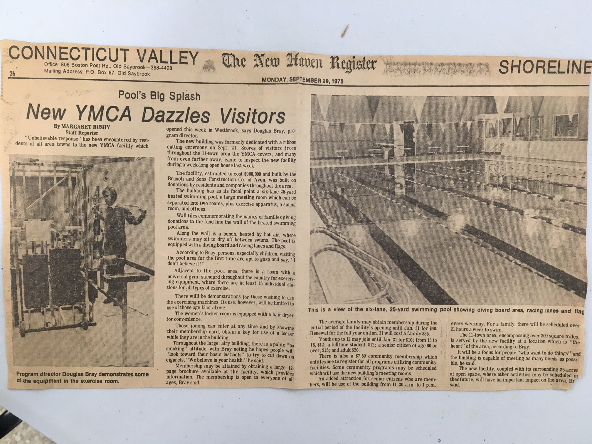 1970s The new YMCA Dazzles