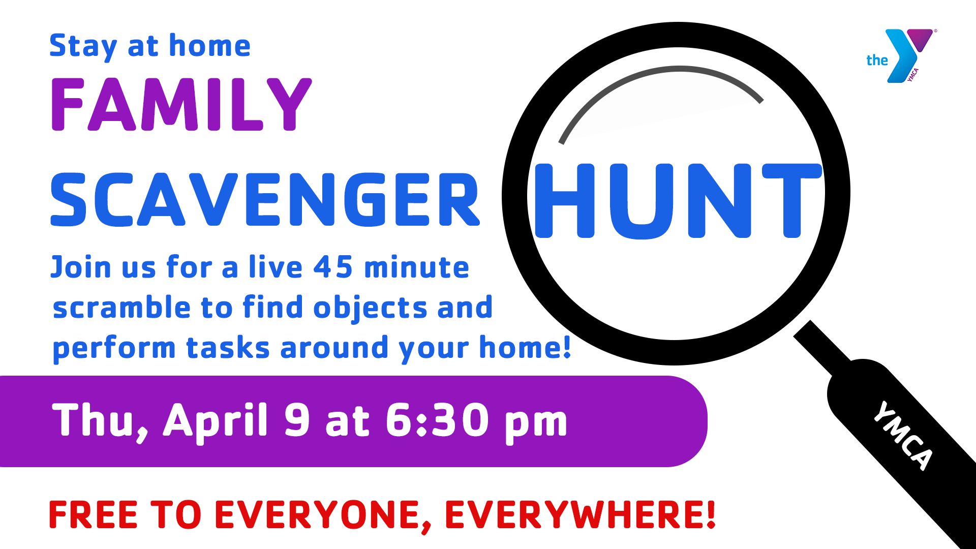 Stay at Home Scavenger Hunt