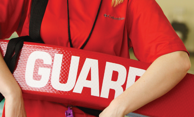 Lifeguard holding guard tube